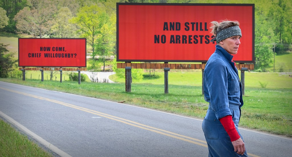 THREE BILLBOARDS LANDING